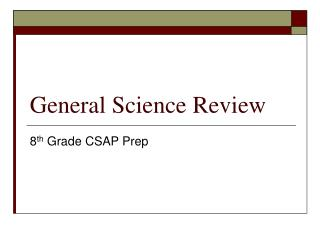 General Science Review