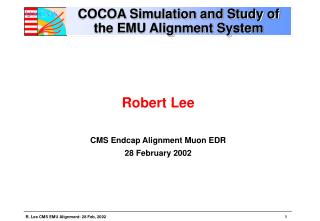 COCOA Simulation and Study of the EMU Alignment System