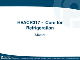 HVACR317 -  Core for Refrigeration
