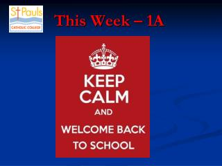 This Week � 1A