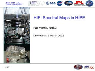 HIFI Spectral Maps in HIPE