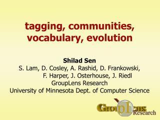 tagging, communities, vocabulary, evolution