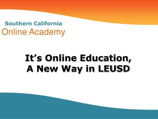 Southern California Online Academy