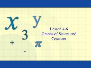 Lesson 4-6 Graphs of Secant and Cosecant