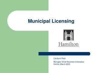 Municipal Licensing