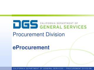 Procurement Division eProcurement