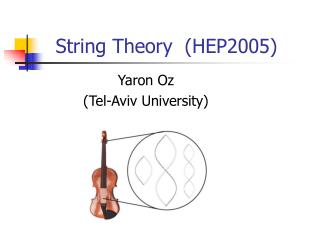 String theory   HEP2005
