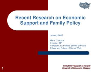 Recent Research on Economic Support and Family Policy