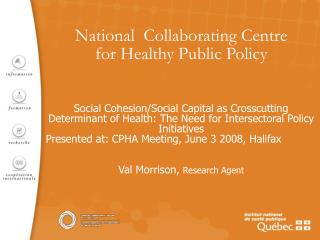 National  Collaborating Centre  for Healthy Public Policy