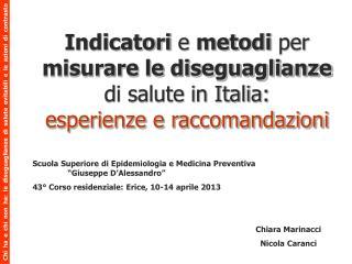 """Scuola Superiore di Epidemiologia e Medicina Preventiva """"Giuseppe D'Alessandro"""""""