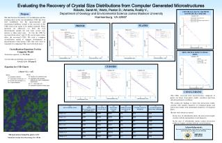 Evaluating the Recovery of Crystal Size Distributions from Computer Generated Microstructures