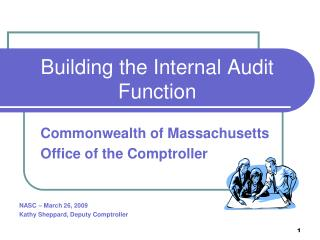 Building the Internal Audit Function