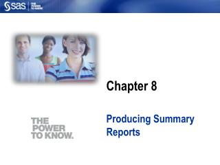 Producing Summary Reports