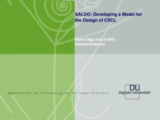 SALDO: Developing a Model for the Design of CSCL