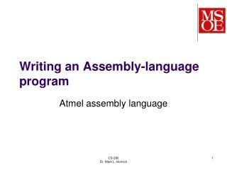 Writing an Assembly-language program