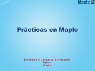Prácticas en Maple