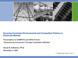Ensuring Consistent Environmental and Competition Policies in Electricity Markets