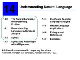 Understanding Natural Language