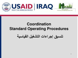 Coordination Standard  Operating  Procedures