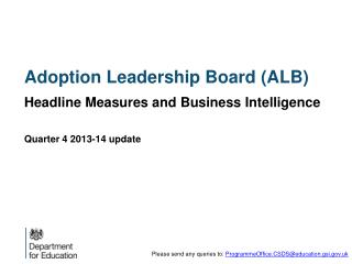 Adoption Leadership Board (ALB)
