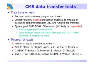 CMS data transfer tests