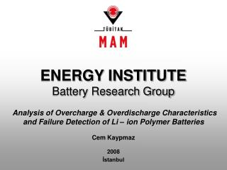 ENERGY INSTITUTE Battery Research Group