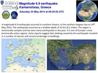 Magnitude 6.9 earthquake Kamariotissa, Greece