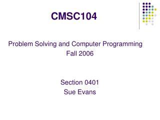 CMSC104