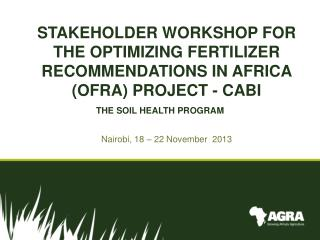 THE SOIL HEALTH PROGRAM