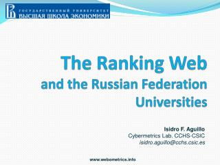 The Ranking Web and the Russian Federation Universities