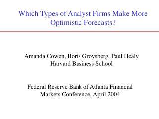 Federal Reserve Bank of Atlanta Financial Markets Conference, April 2004