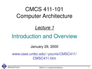 Lecture's Overview