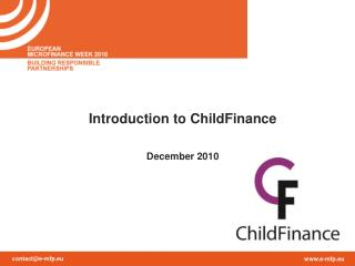 Introduction to ChildFinance December 2010