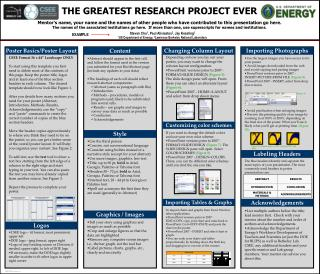 THE GREATEST RESEARCH PROJECT EVER