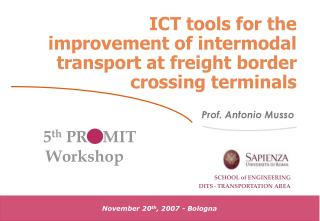 ICT tools for the improvement of intermodal transport at freight border crossing terminals