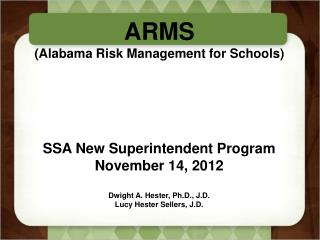 ARMS (Alabama Risk Management for Schools)