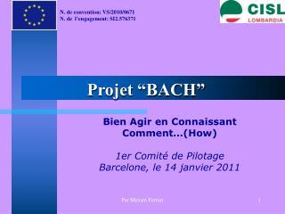 """Projet """"BACH"""""""