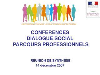 CONFERENCES  DIALOGUE SOCIAL  PARCOURS PROFESSIONNELS