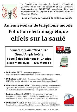 Antennes-relais de téléphonie mobile Pollution électromagnétique effets sur la santé