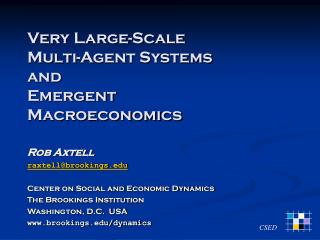Very Large-Scale Multi-Agent Systems and Emergent Macroeconomics