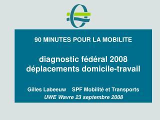 90 MINUTES POUR LA MOBILITE diagnostic fédéral 2008 déplacements domicile-travail