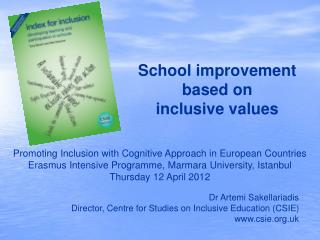School improvement based on  inclusive values