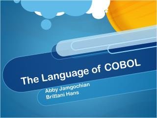 The Language of COBOL