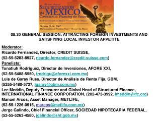 Moderator:  Ricardo Fernandez, Director, CREDIT SUISSE,