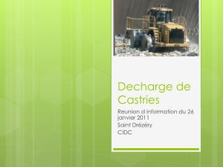 Decharge de Castries