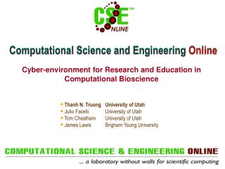 Computational Science and Engineering  Online