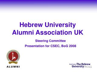Hebrew University  Alumni Association UK