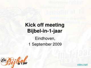Kick off meeting  Bijbel-in-1-jaar