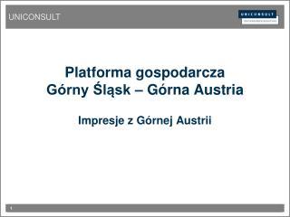 Platforma gospodarcza Górny Śląsk  –  Górna Austria Impresje z Górnej Austrii
