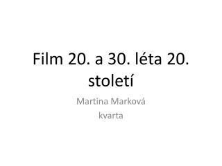 Film 20. a 30. léta 20. století